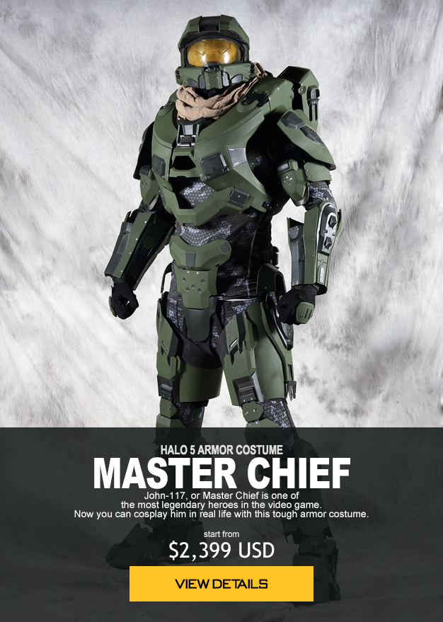 HALO 5 ARMOR COSTUME MASTER CHIEF John-117, or Master Chief is one of the most legendary heroes in the video game. Now you can cosplay him in real life with this tough armor costume. start from $2,399 USD order now