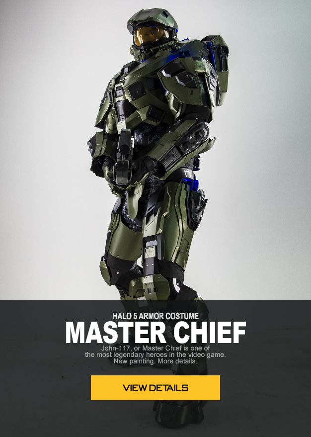 HALO 5 ARMOR COSTUME MASTER CHIEF  John-117, or Master Chief is one of the most legendary heroes in the video game. Now you can cosplay him in real life with this tough armor costume.
