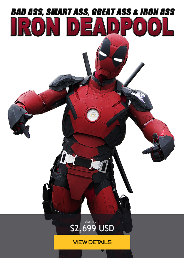 Iron Deadpool armor costume cosplay suit, bad ass, smart ass, great ass & iron ass starts from 2,699 USD order now!