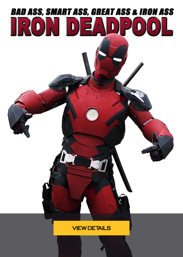 Iron Deadpool armor costume cosplay suit, bad ass, smart ass, great ass & iron ass