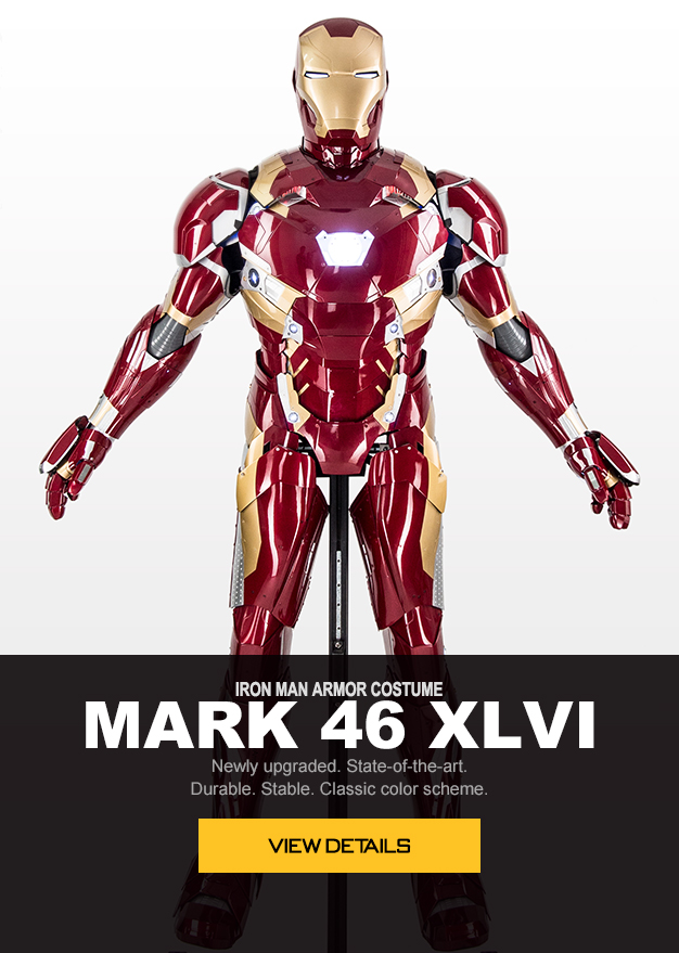wearable iron man Mark 46 XLVI armor costume suit