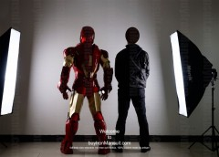 Wearable Iron Man suit costume Mark 6 (VI) back-2