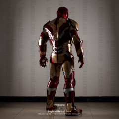 Wearable Iron Man suit costume Mark 42 (XLII) back-1