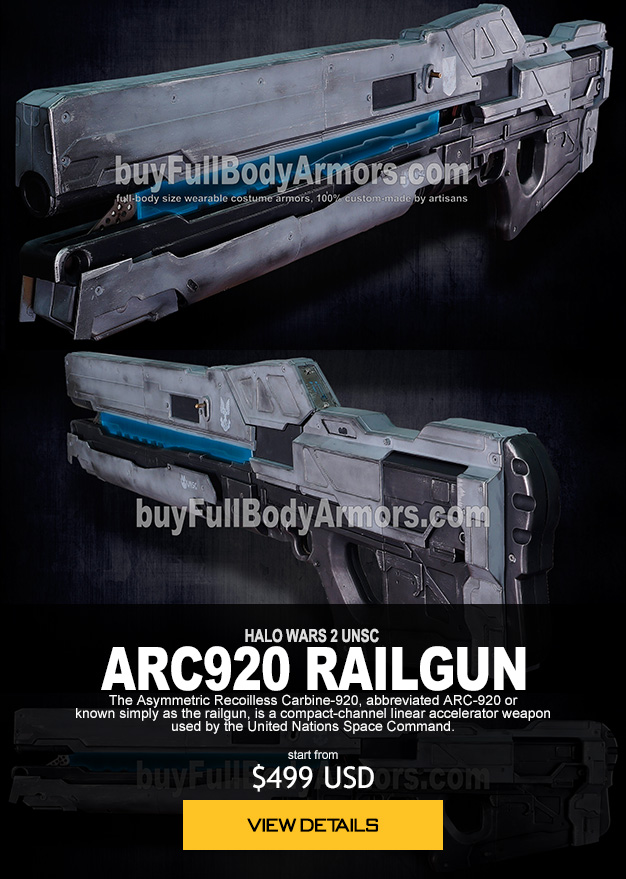HALO WARS 2 UNSC ARC920 RAILGUN  The Asymmetric Recoilless Carbine-920, abbreviated ARC-920 or  known simply as the railgun, is a compact-channel linear accelerator weapon  used by the United Nations Space Command. start from $449 USD order now