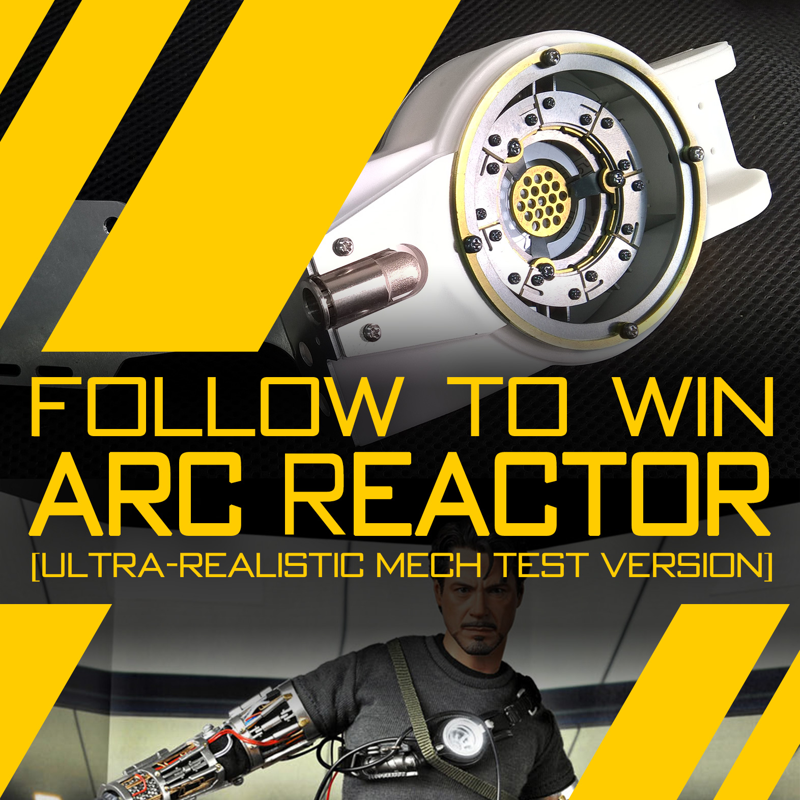 Follow Our Instagram to Win Arc Reactor [Ultra-realistic Mech Test Version]