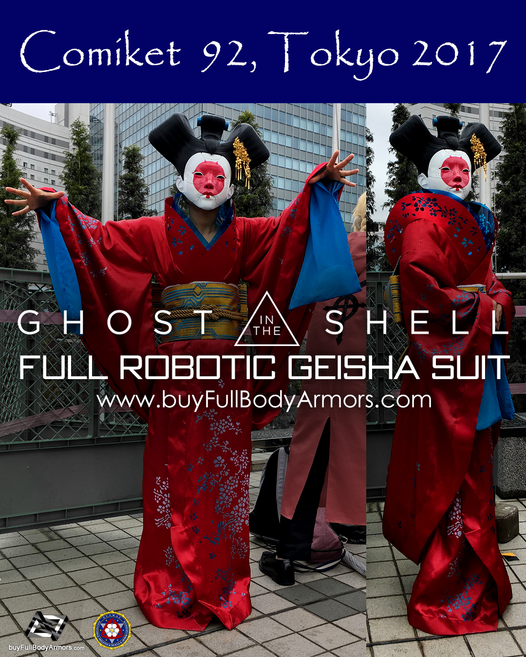 [Comiket 92, Tokyo 2017] The Wearable Robotic Geisha Full Suit from the Movie Ghost in the Shell 2017 1