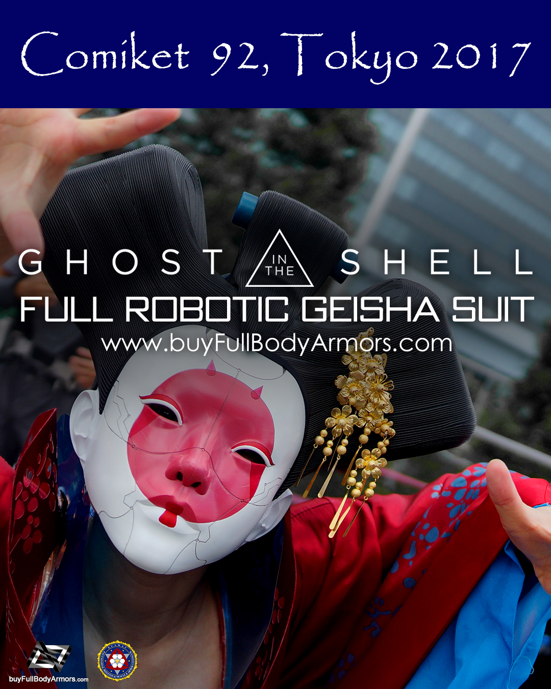 [Comiket 92, Tokyo 2017] The Wearable Robotic Geisha Full Suit from the Movie Ghost in the Shell 2017 5