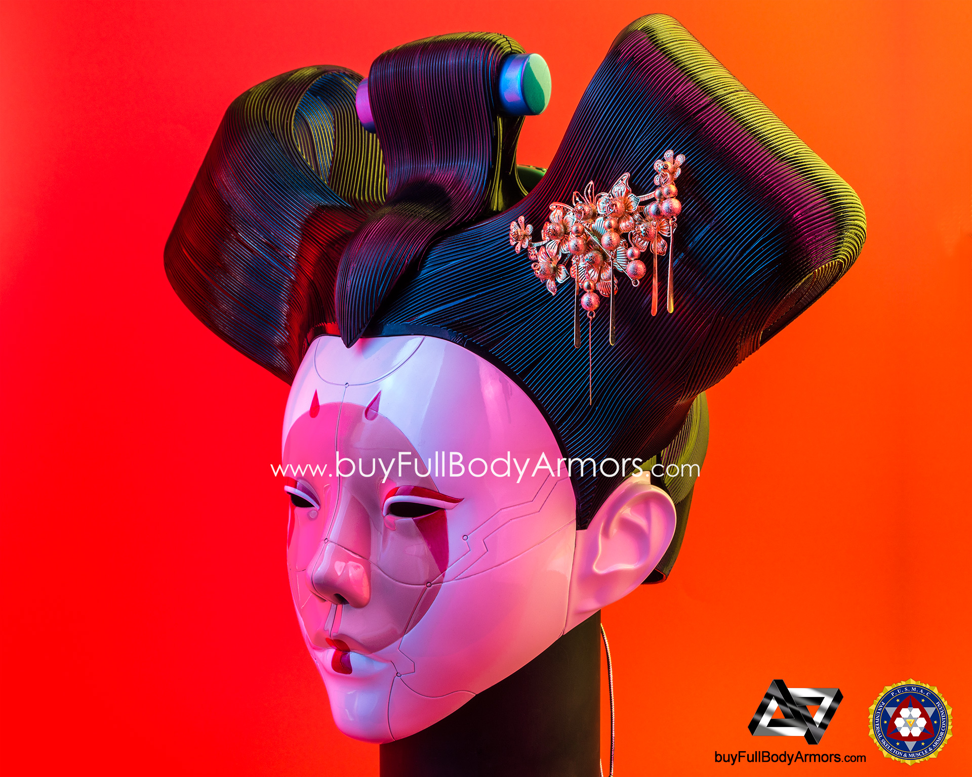 Wearable Ghost in the Shell Robotic Geisha Head / Helmet DSLR Photos side 2
