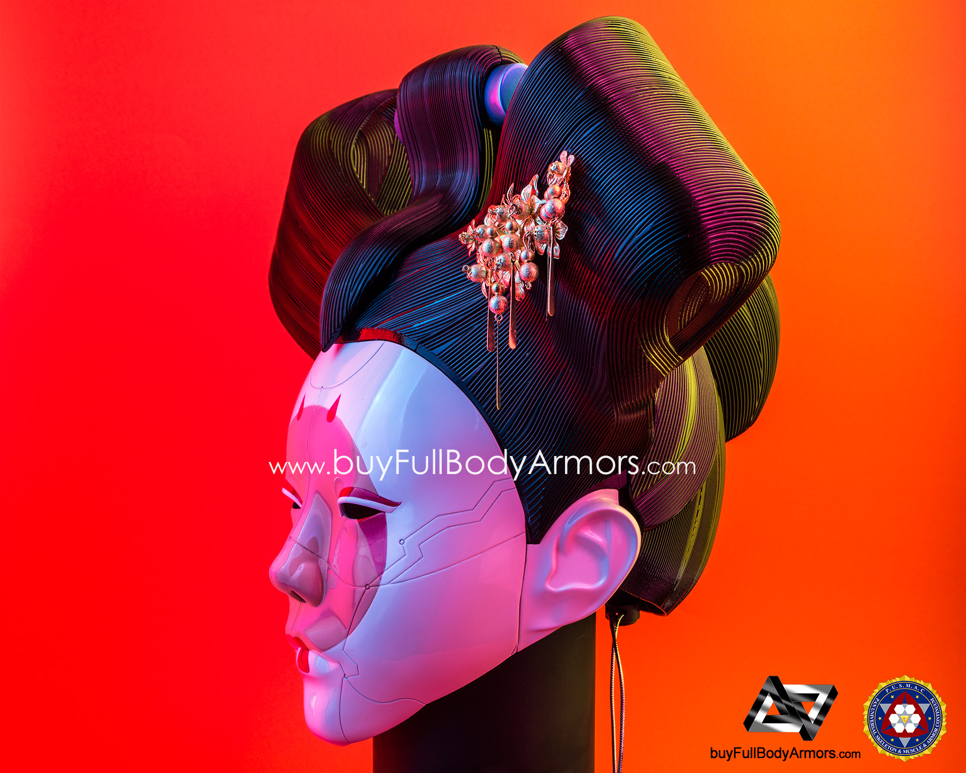 Wearable Ghost in the Shell Robotic Geisha Head / Helmet DSLR Photos side 3