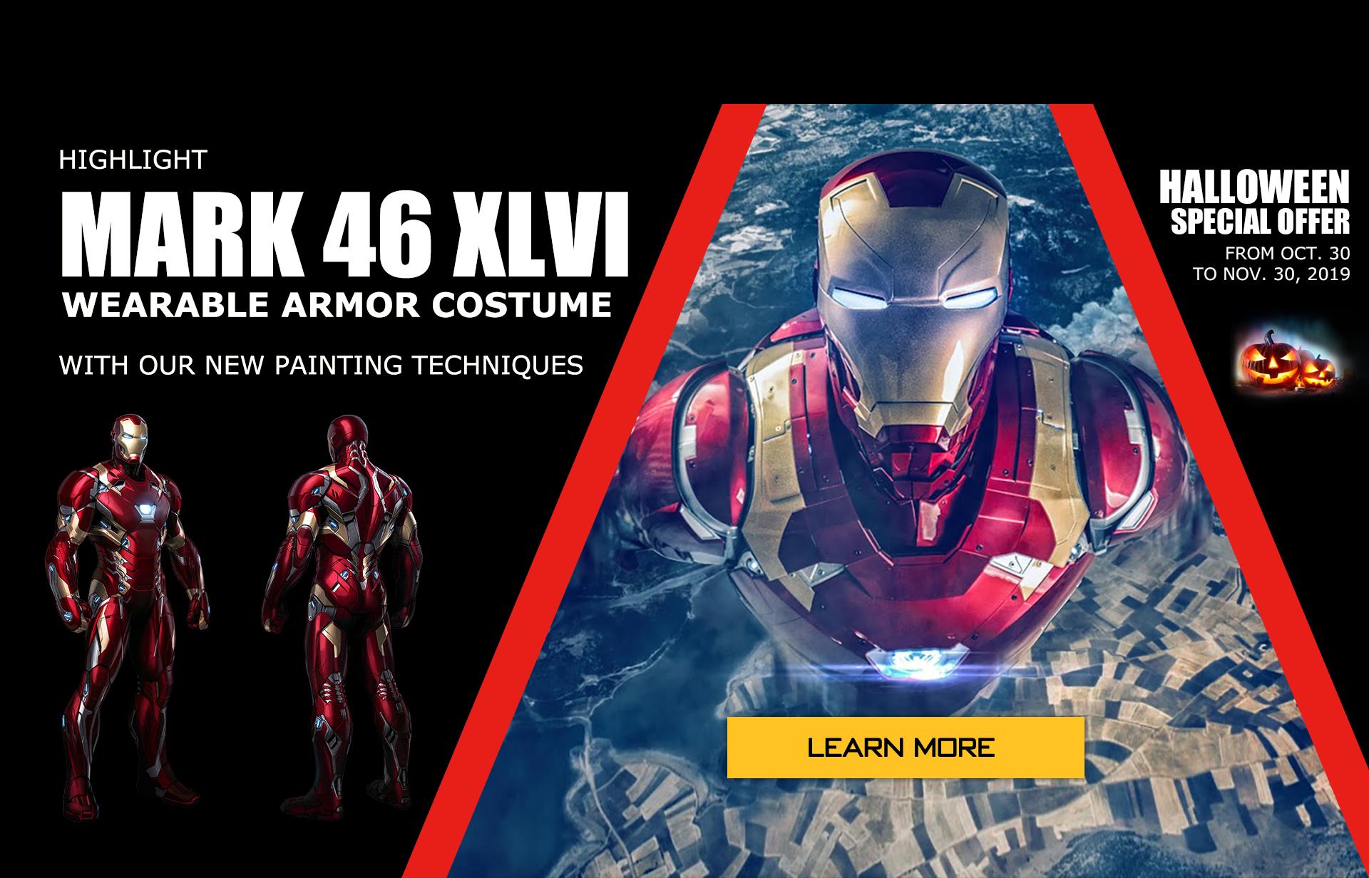 wearable Iron Man Mark 46 armor costume suit halloween 2019