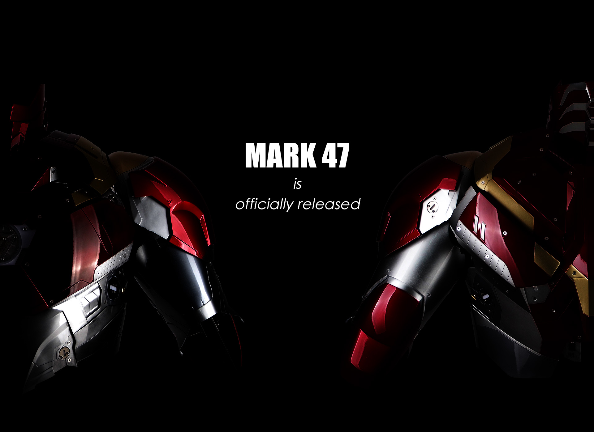 wearable Iron Man Mark 47 46 armor costume suit officially released