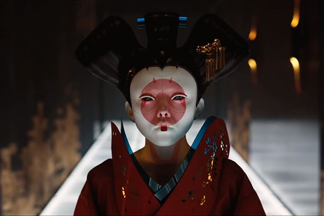 the Wearable Ghost in the Shell movie 2017 Geisha Suit costume inspired 1