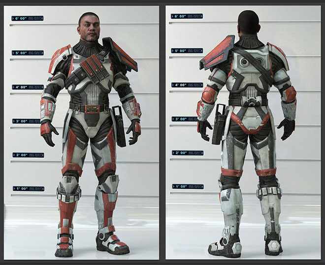 the Wearable Star Wars Old Republic Havoc Squad Armor costume suit 1