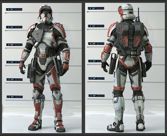 the Wearable Star Wars Old Republic Havoc Squad Armor costume suit 2