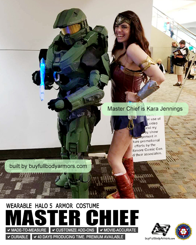 Photos from Customers - Made-to-Measure Halo 5 Master Chief Armor Cosplay Costume Suit
