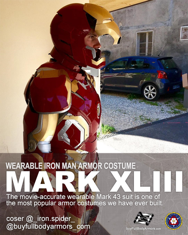 Photos from Customers - The Wearable Iron Man Mark 43 (XLIII) Suit Armor Costume 4