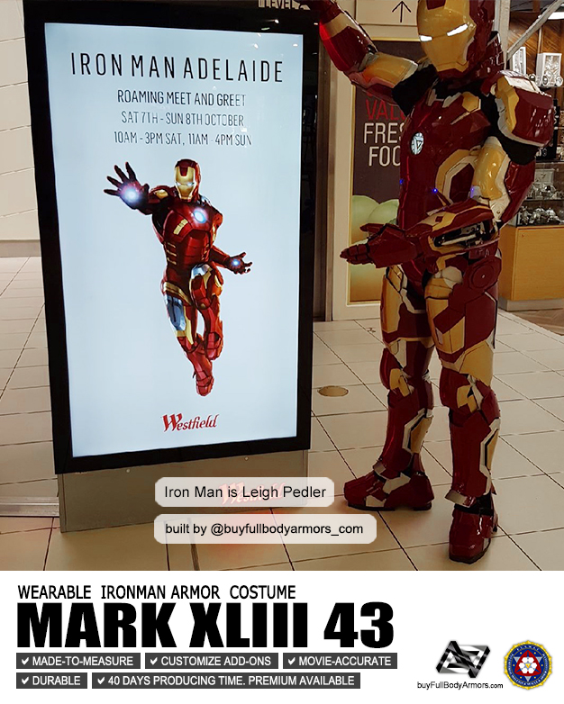 Photos from Customers - Made-to-Measure Iron Man Mark 43 XLIII Armor Cosplay Costume Suit 6