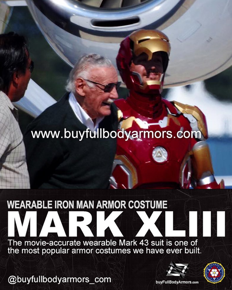 Photos from Customers - Made-to-Measure Iron Man Mark 43 XLIII Armor Cosplay Costume Suit 1