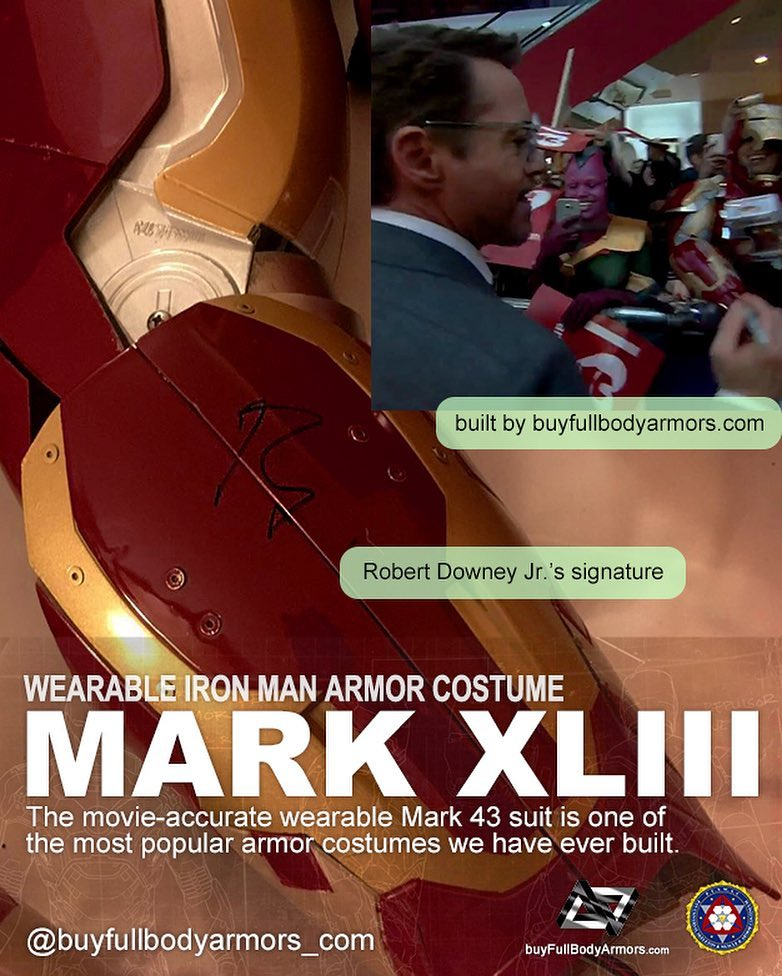 Photos from Customers - Made-to-Measure Iron Man Mark 43 XLIII Armor Cosplay Costume Suit 2