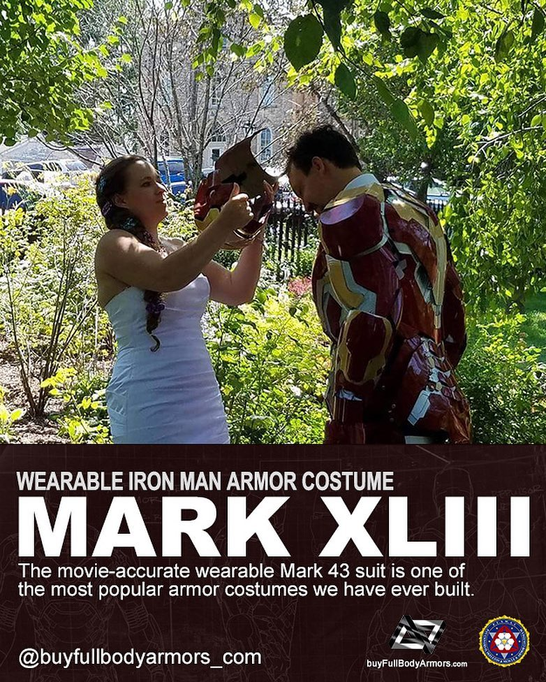 Photos from Customers - Made-to-Measure Iron Man Mark 43 XLIII Armor Cosplay Costume Suit 3
