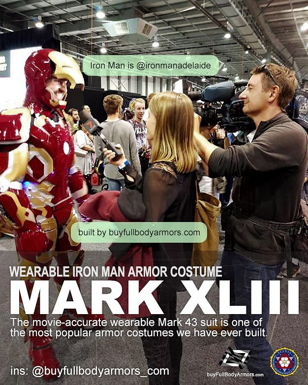Photos from Customers - Made-to-Measure Iron Man Mark 43 XLIII Armor Cosplay Costume Suit 5