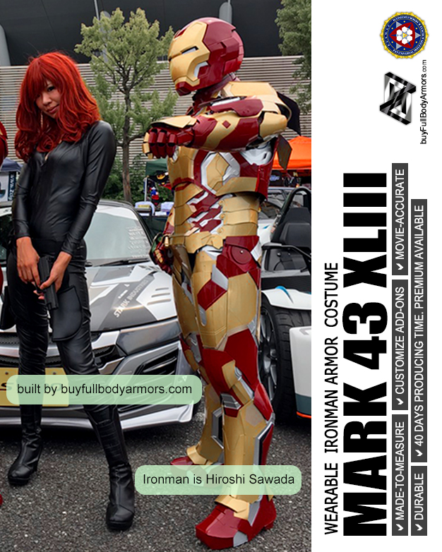 Photos from Customers - Made-to-Measure Iron Man Mark 42 XLII Armor Cosplay Costume Suit 2