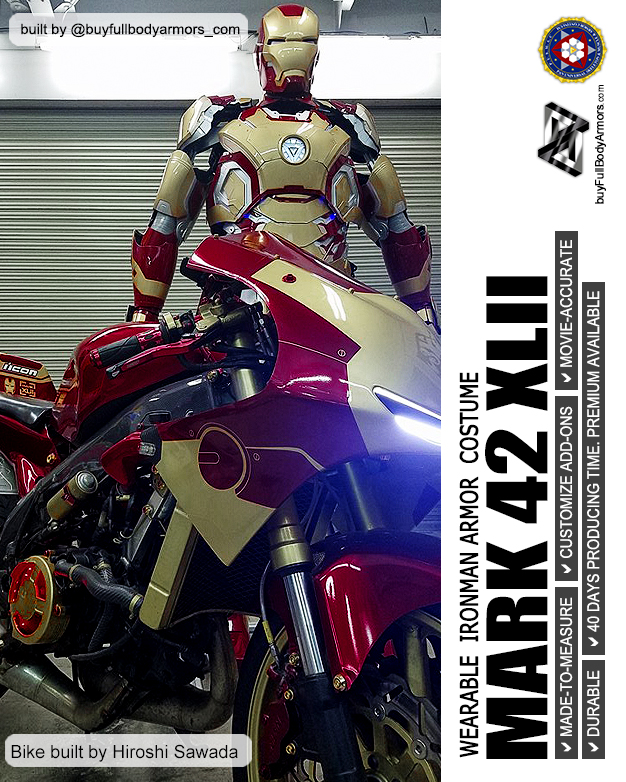Photos from Customers - Made-to-Measure Iron Man Mark 42 XLII Armor Cosplay Costume Suit 1