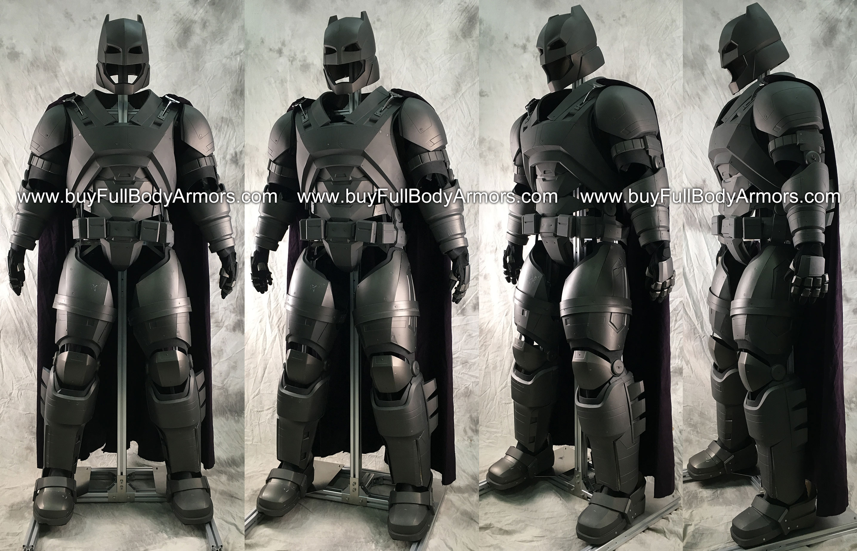 Put an Armored Batsuit Armor Costume onto a Universal Aluminium Alloy Support (UAAS) 1