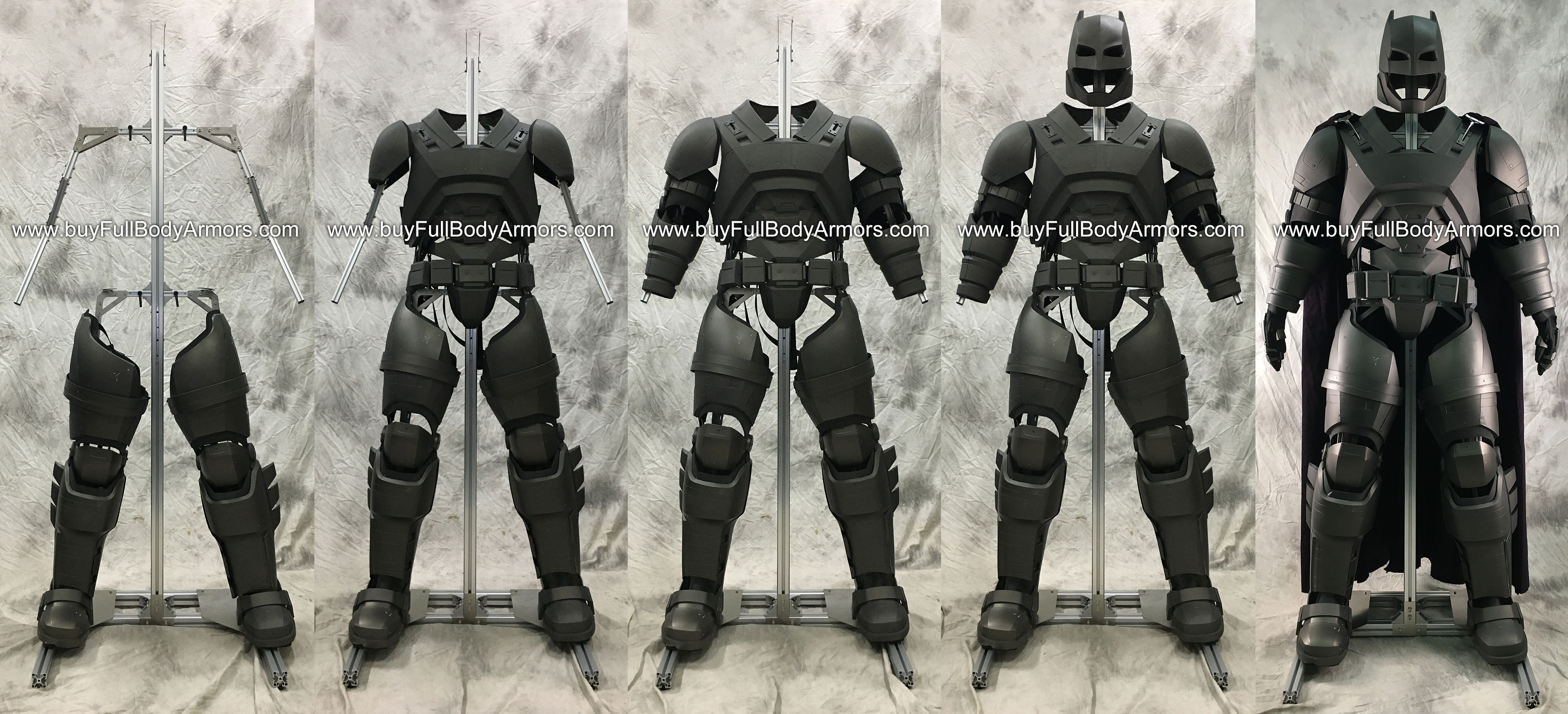 Put an Armored Batsuit Armor Costume onto a Universal Aluminium Alloy Support (UAAS) 2