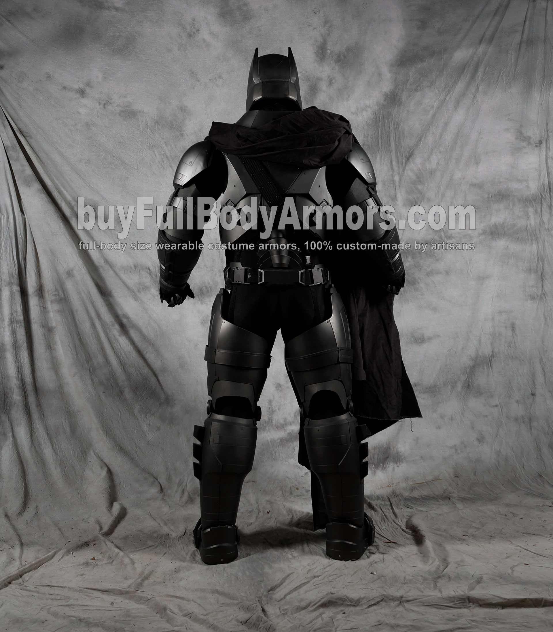 The Wearable Armored Batsuit (Batman armor suit costume) back clear