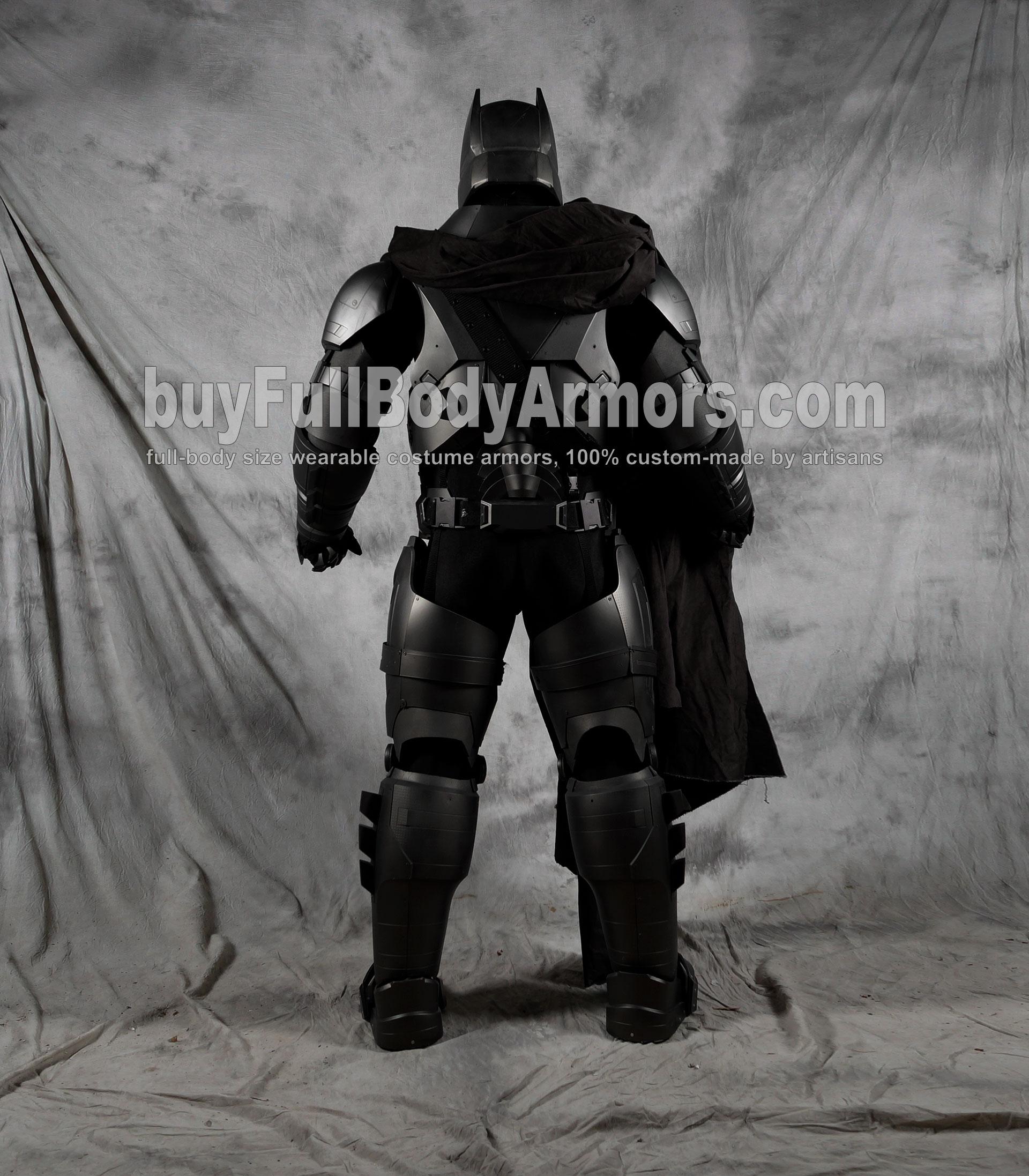 The Wearable Armored Batsuit (Batman armor suit costume) back clear