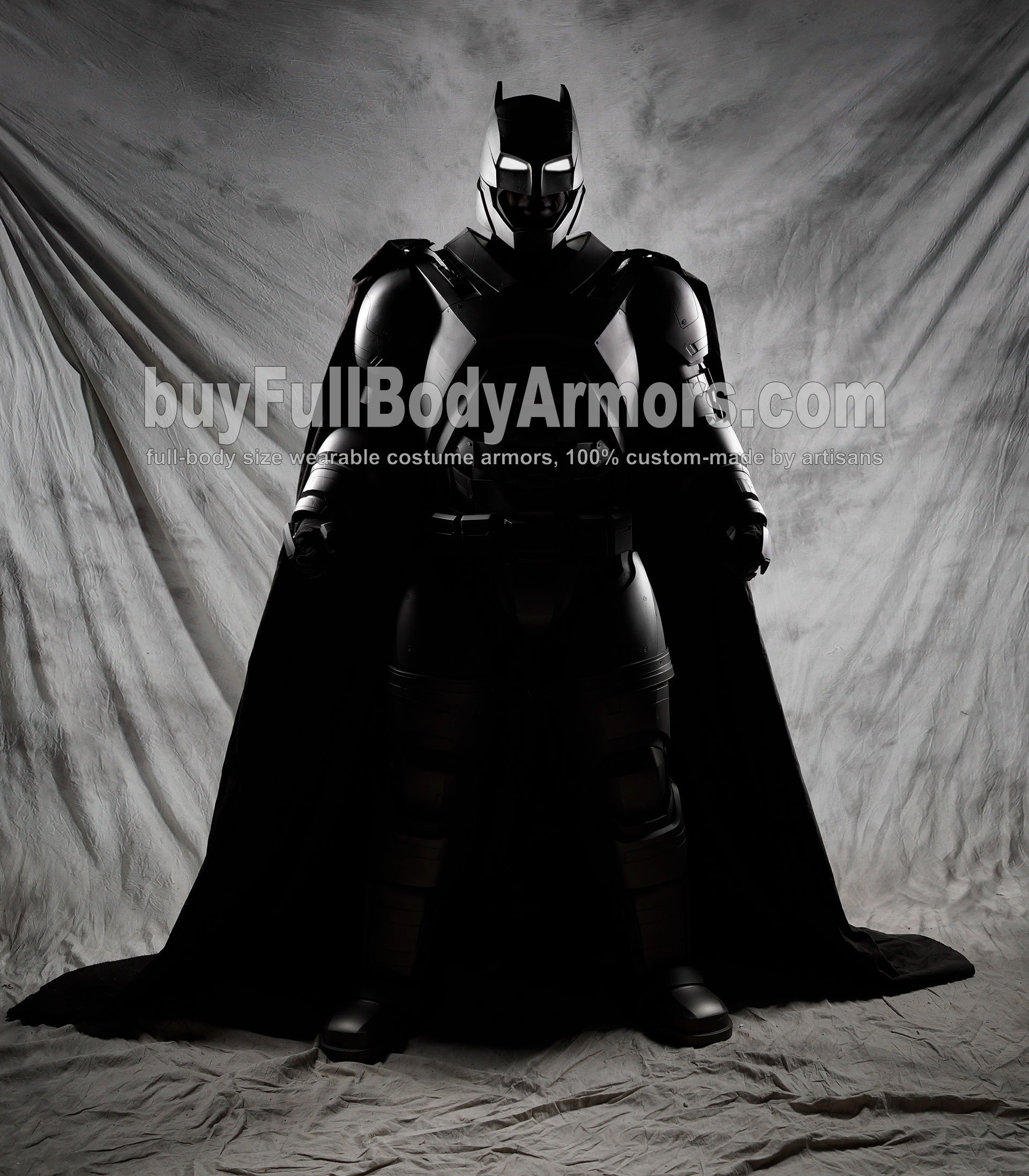 The Wearable Armored Batsuit (Batman armor suit costume) front black