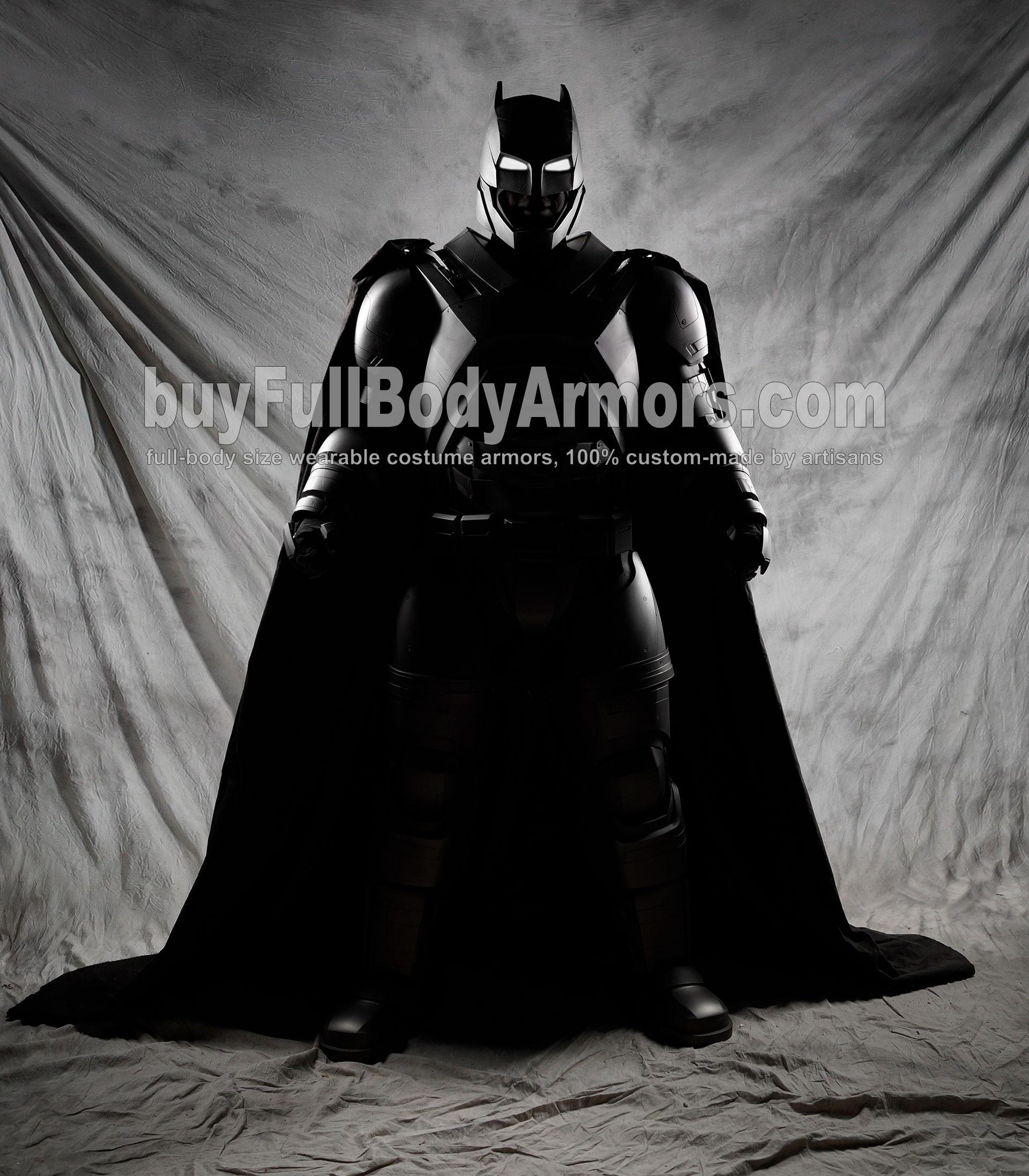 The Wearable Armored Batsuit (Batman armor suit costume) front black