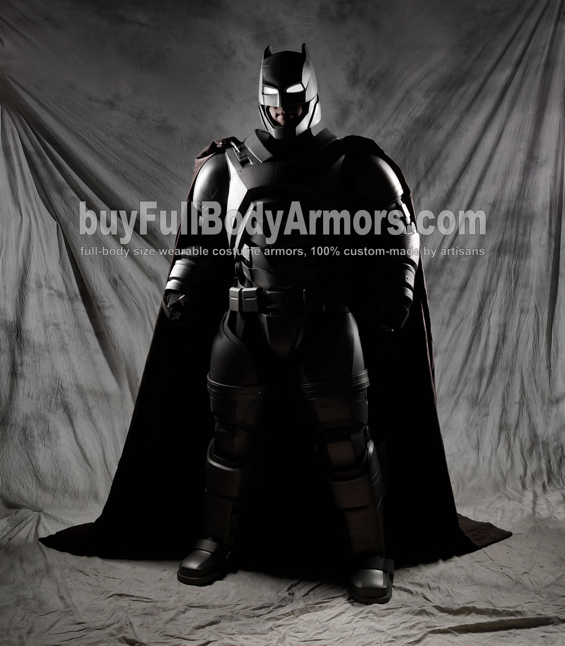 The Wearable Armored Batsuit (Batman armor suit costume) front side