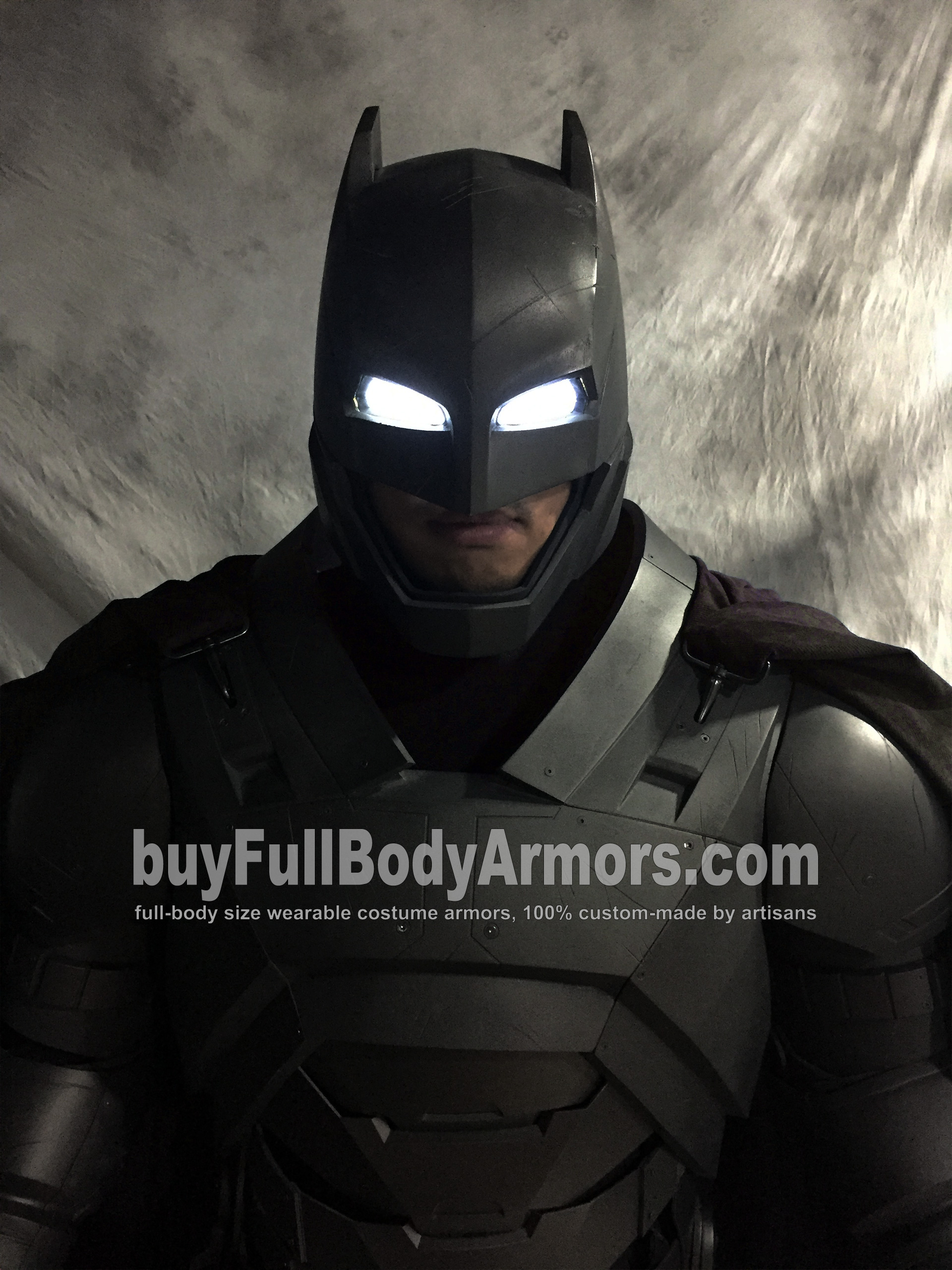 Full Body Prototype of the Wearable Armored Batsuit (Batman armor suit costume) in Batman v Superman: Dawn of Justice (2016) 1