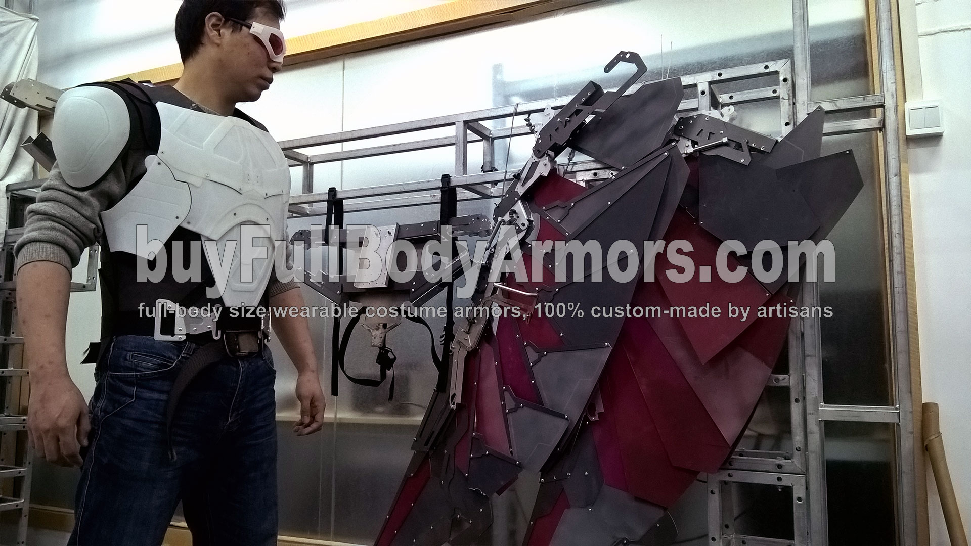 The Avengers 2 Wearable Falcon Suit Prototype - wings, chest armor, back flying pack 1
