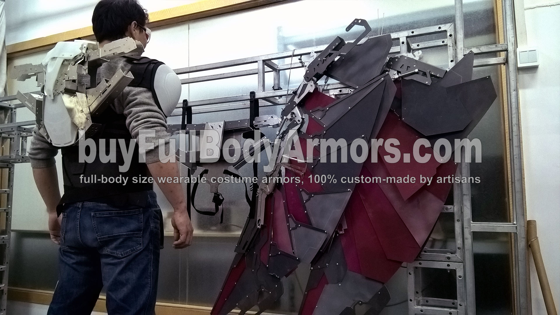 The Avengers 2 Wearable Falcon Suit Prototype - wings, chest armor, back flying pack 2