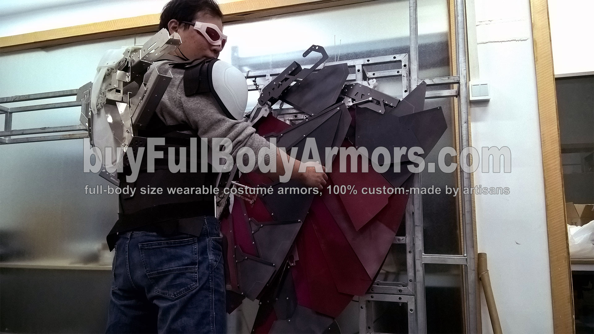 The Avengers 2 Wearable Falcon Suit Prototype - wings, chest armor, back flying pack 3