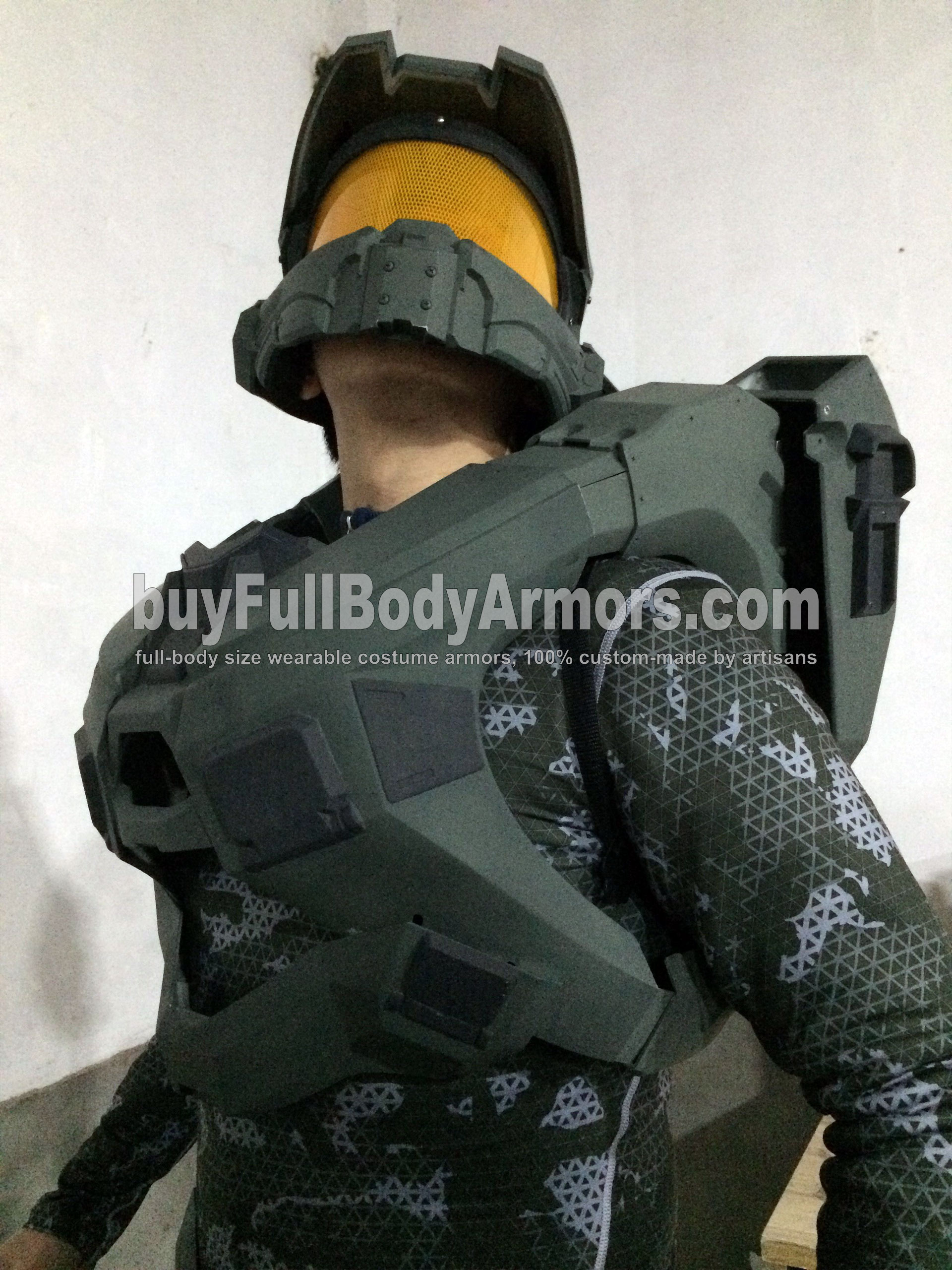 Halo 5 Master Chief partial colored prototype 3