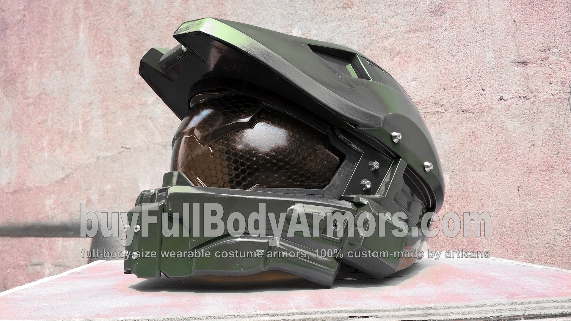 New Face Shield of the Wearable Halo 5 Guardians John-117 Master Chief Helmet Armor 1