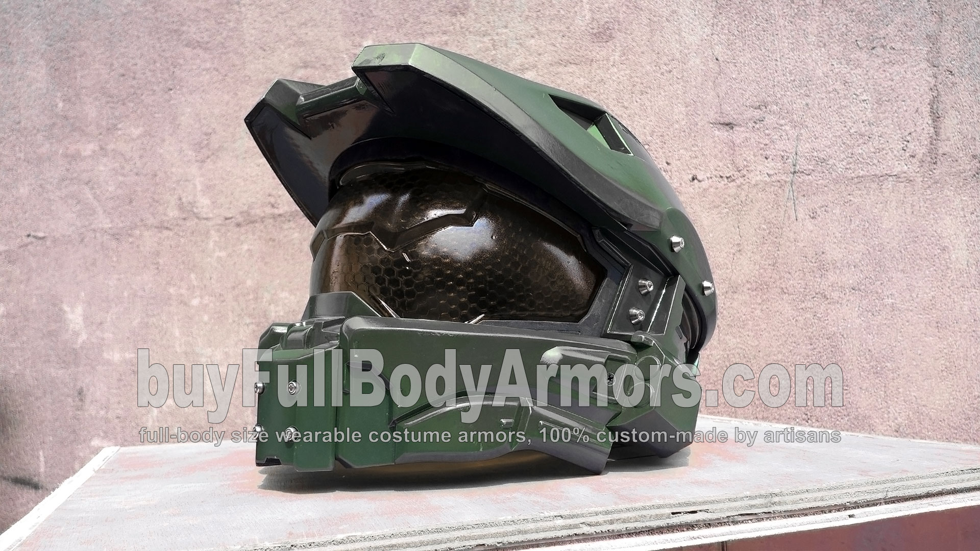 New Face Shield of the Wearable Halo 5 Guardians John-117 Master Chief Helmet Armor 2