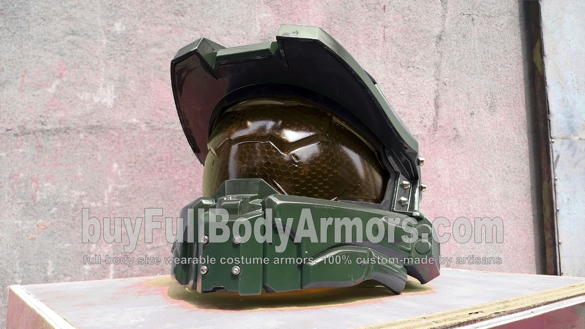 New Face Shield of the Wearable Halo 5 Guardians John-117 Master Chief Helmet Armor 3