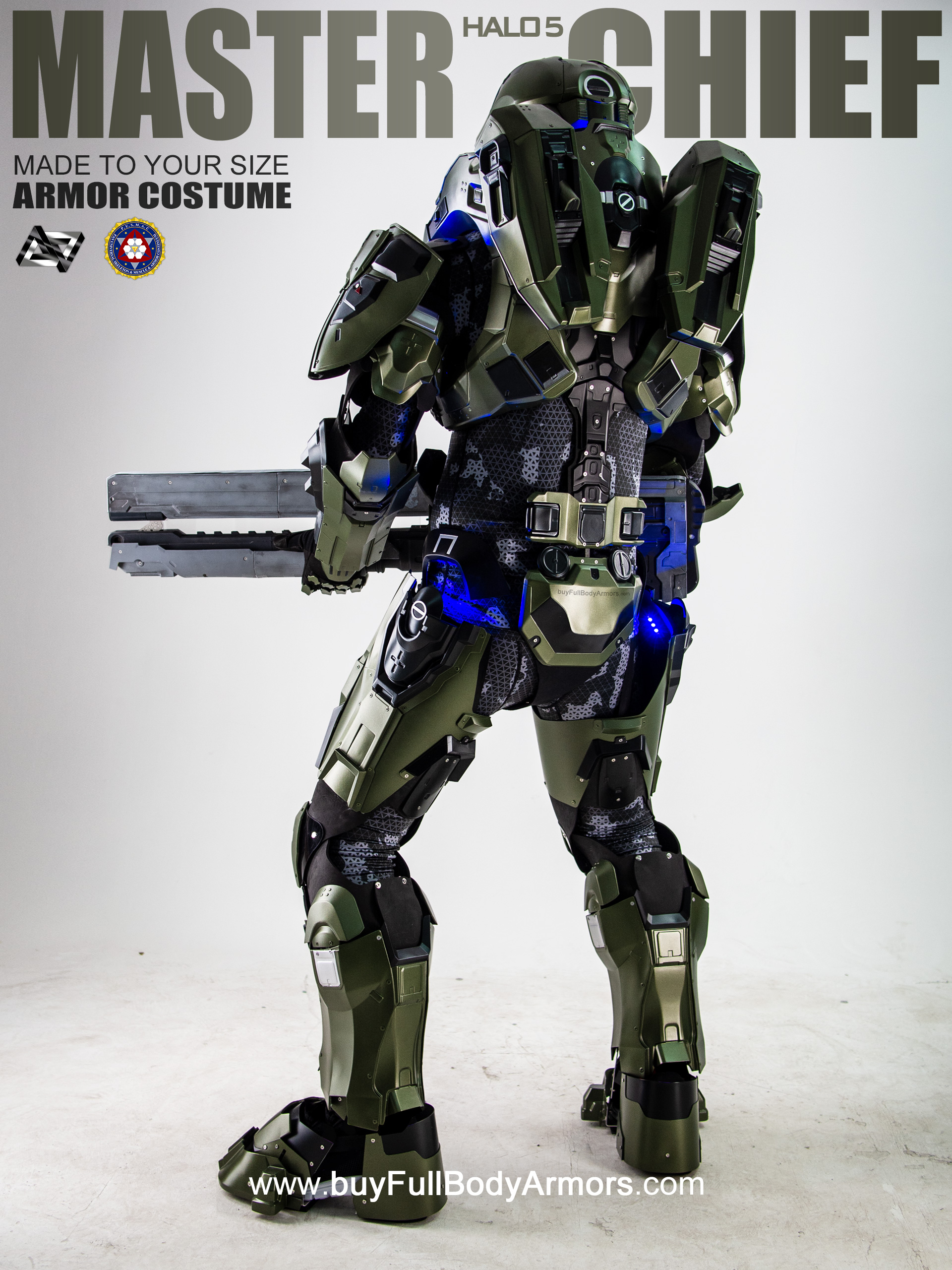 Halo 5 Master Chief Armor Suit Costume back