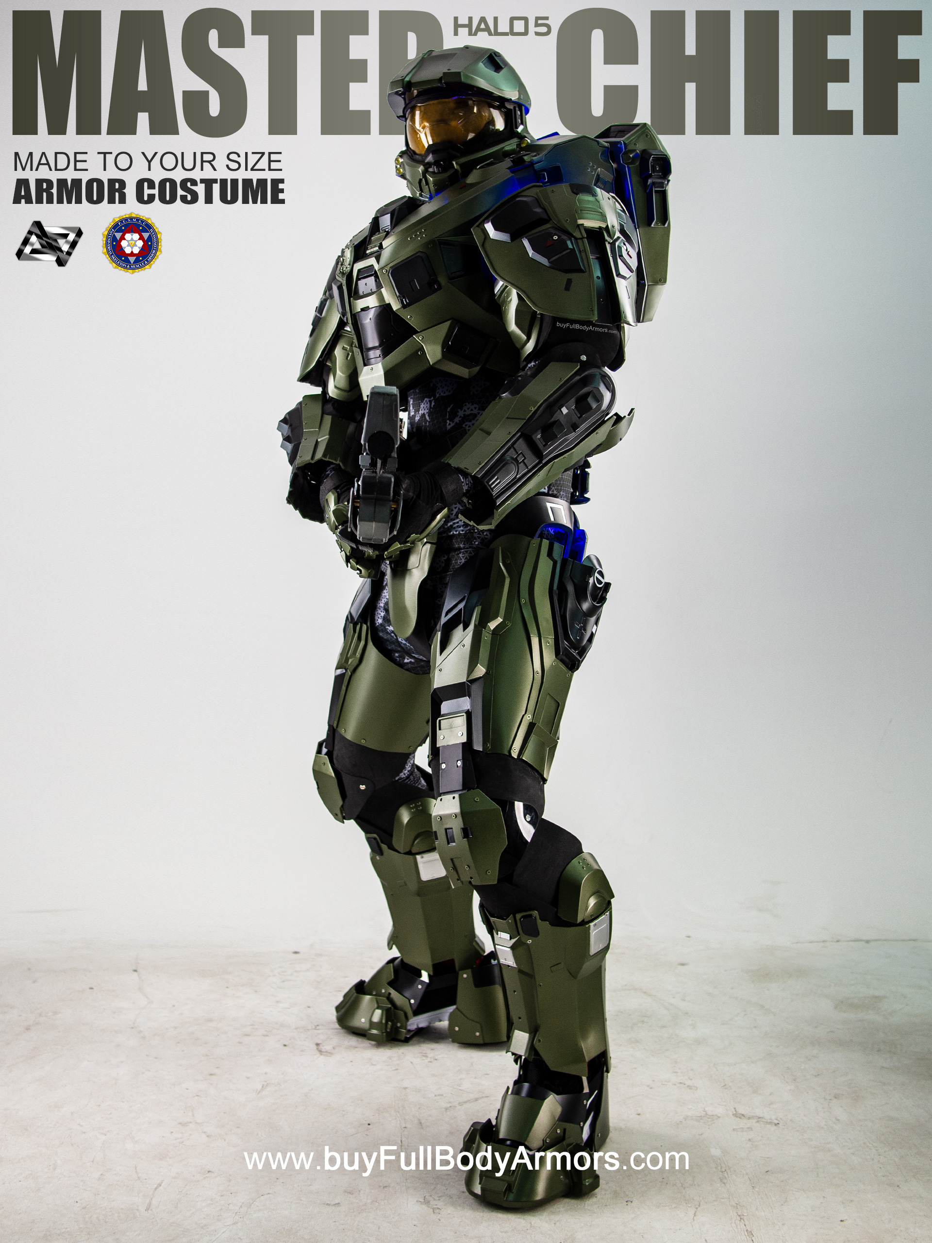 Halo 5 Master Chief Armor Suit Costume front