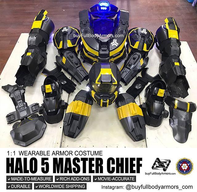wearable Halo 5 Master Chief Custom Painting