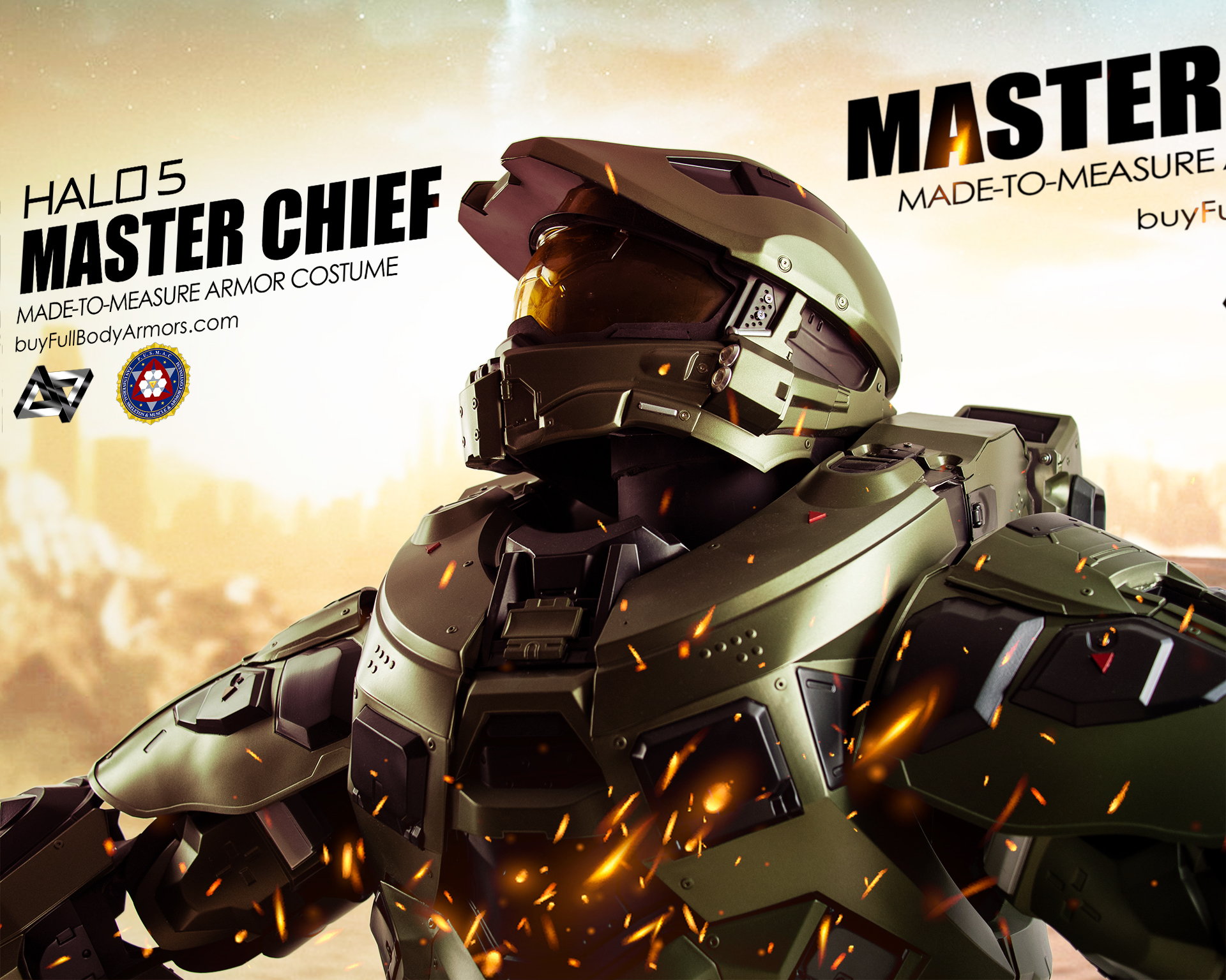 Halo 5 Master Chief Armor Suit Costume on crate 2