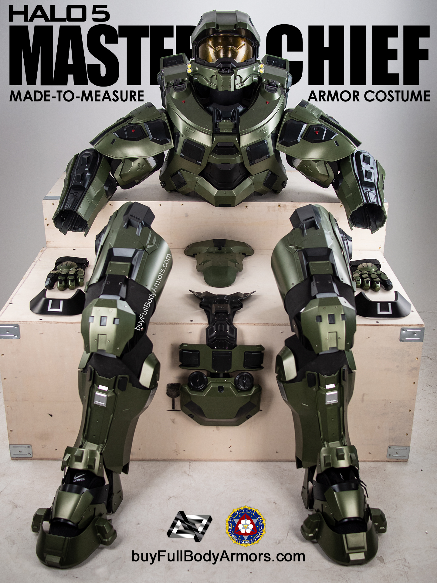 Halo 5 Master Chief Armor Suit Costume all parts