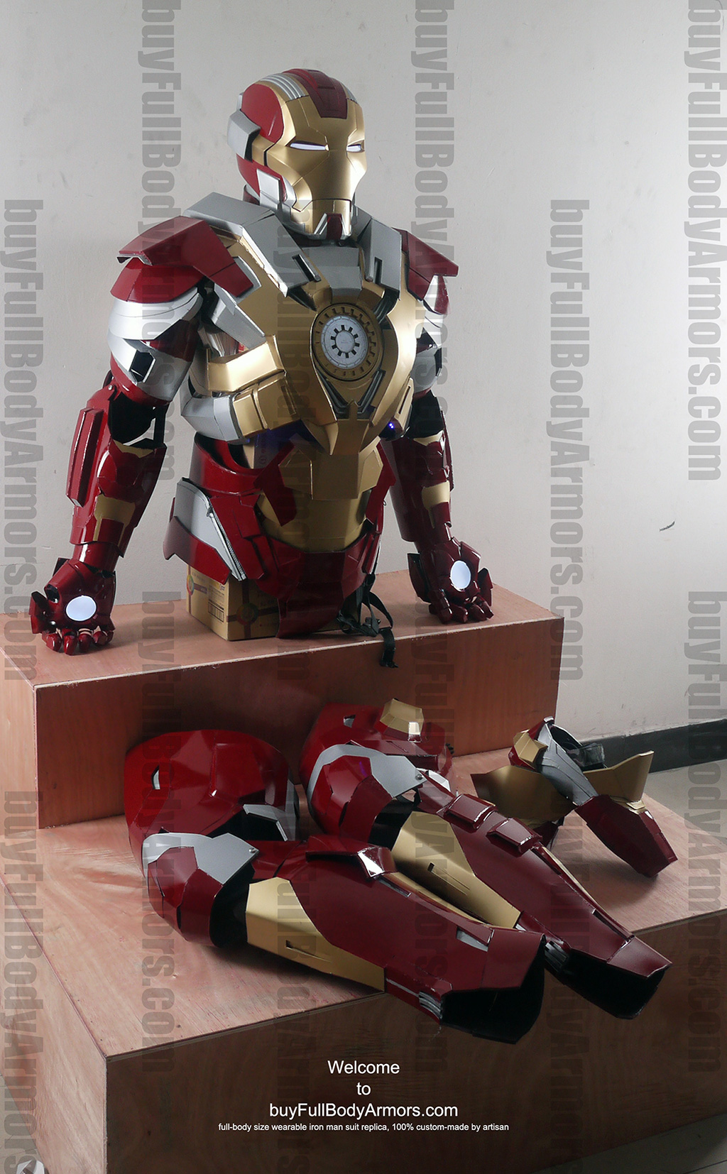 Wearable Iron Man suit Mark 17 armor costume