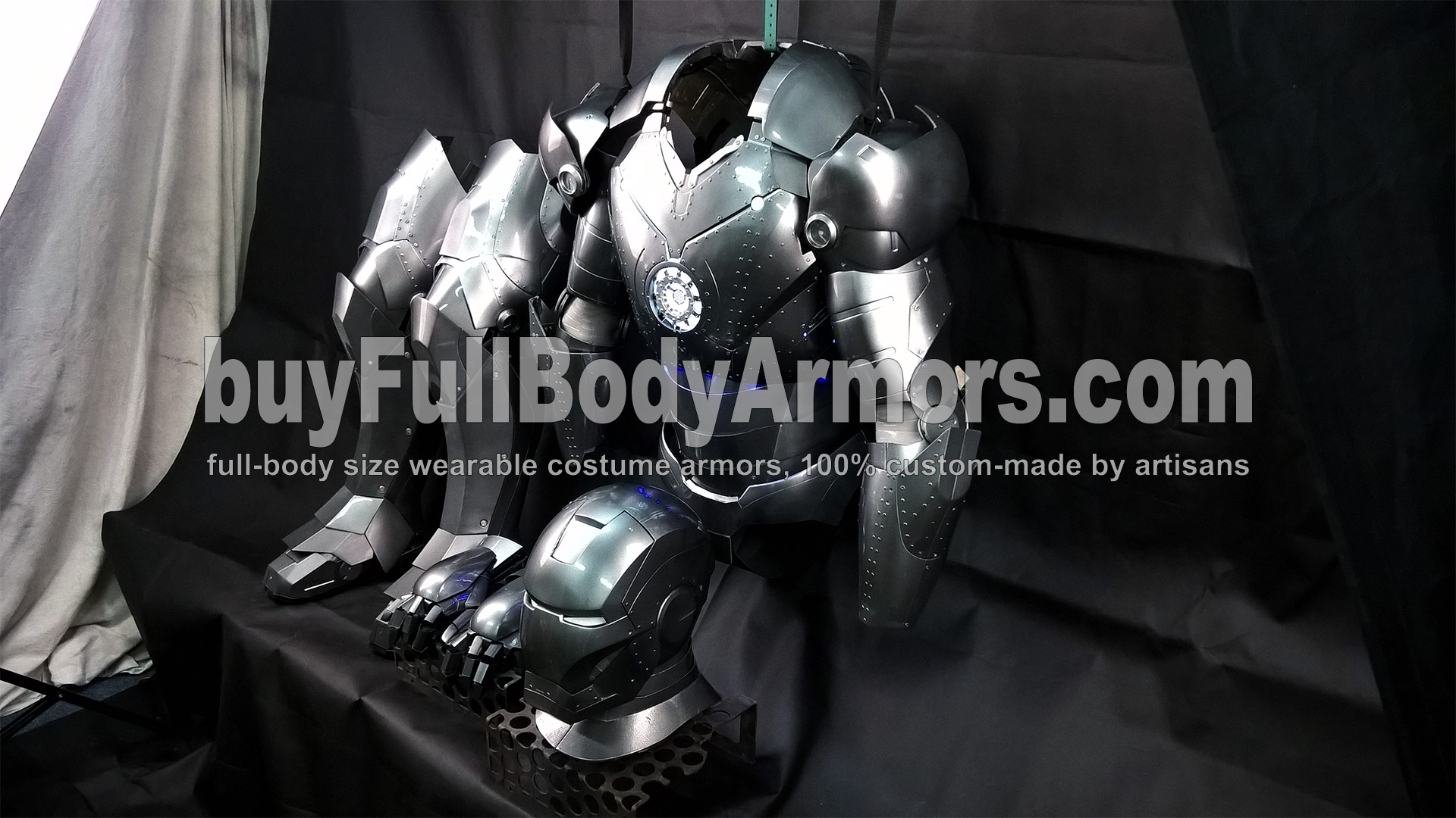 All Parts of the Wearable Iron Man Suit Mark 2 II Armor Costume 2
