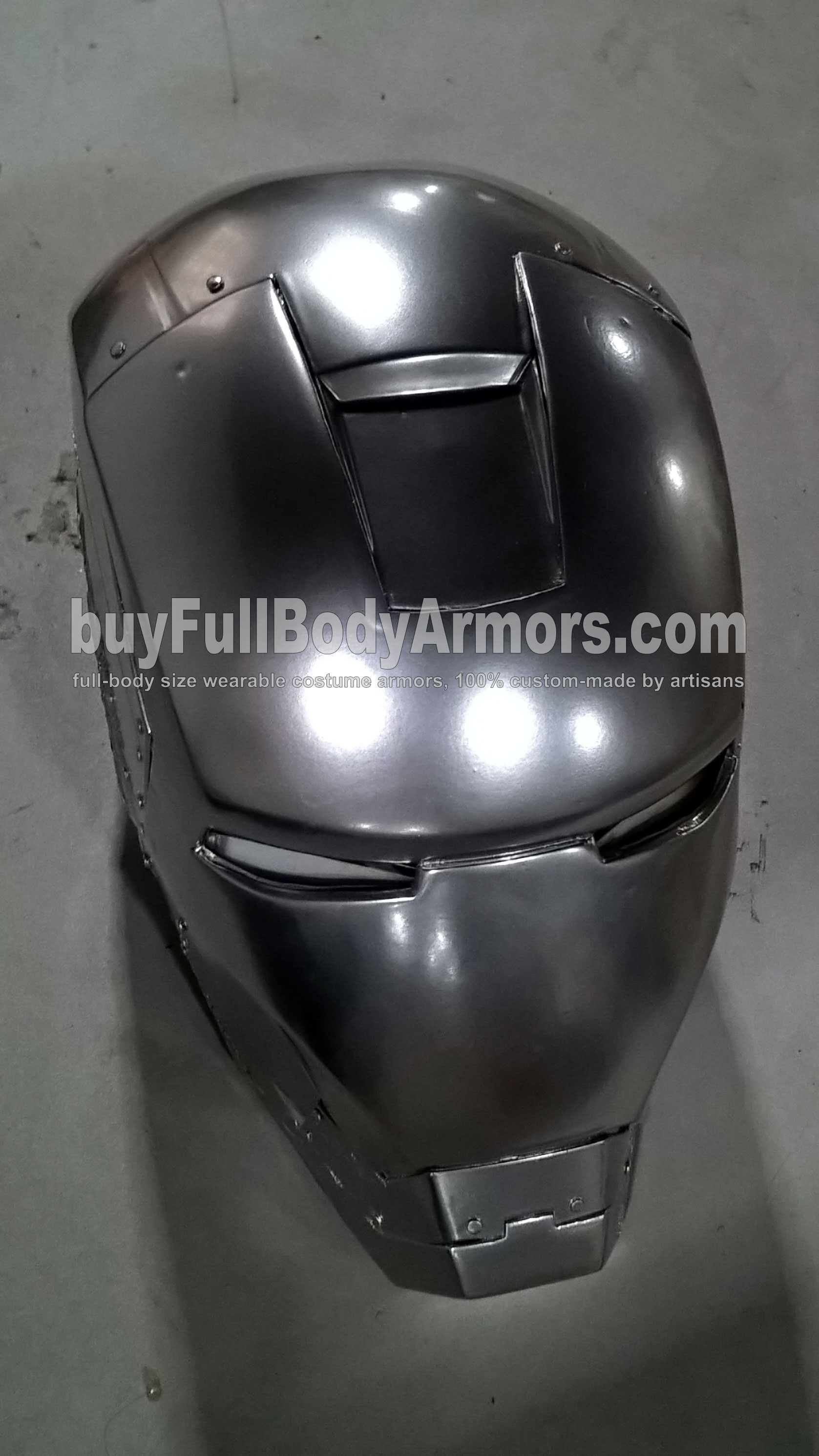 Chrome Silver Painting Effect of the Wearable Iron Man Suit Mark II (2) helmet